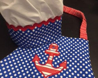 Anchor Apron & Chef Hat for Children - 3 to 6 years old