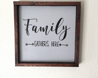 Families Are Forever Rustic Wood Sign
