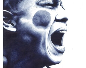 Screaming Man in biro print (270mm-315mm)