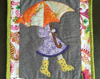 Girl with Umbrella Wall Hanging