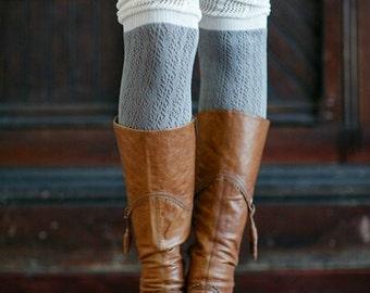 Two Toned Thigh High Socks | Knee High Socks