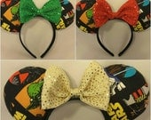 Star Wars Mouse Ears- Minnie Mouse Ears- Mickey Mouse Ears- Bows- Yoda- Storm Troopers- Disney Inspired