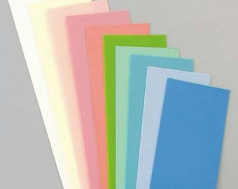Candle wax plate pastel mix, 10 pieces in different colors, 20 x 10 cm, 1 mm thick