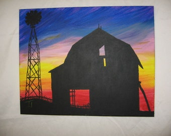 Barn with windmill