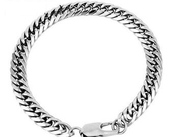 Cuban screw bracelet in stainless steel 316L / 11mm (19/20/21 / 22cm)