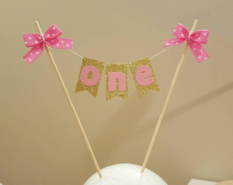 "1st Birthday ""ONE"" Cake Topper. Colors customized to order!"