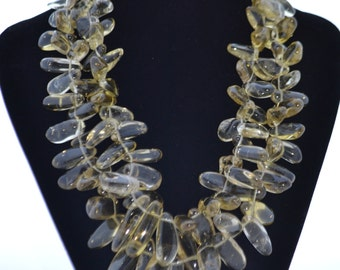 Necklace with lemon Topaz