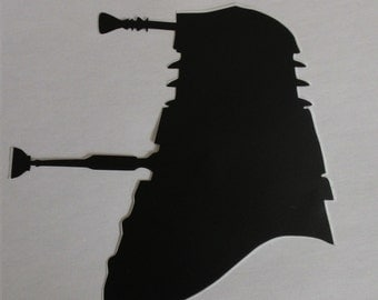 Dalek Silhouette Decal Sticker