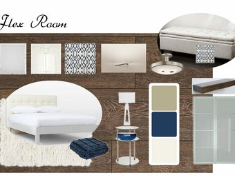 Digital Sample Board with Detailed Design Plan for One room
