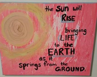"""The Brilliance """"The Sun Will Rise"""" Quote Canvas 16x20"""