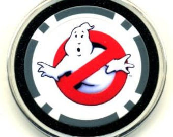 Ghostbusters poker chip card guard - Ghost Busters card protector