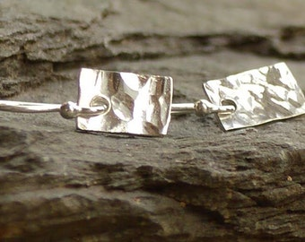 Hammered Sterling Silver Earings