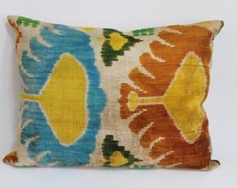 Ikat Pillow Case -  16'' x 20'' Decorative Pillows For Couch Sofa Pillows Lumbar Pillow Decorative Cushion Modern Pillow Cover