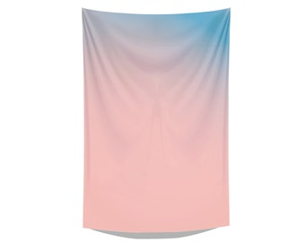 pink & blue tea towel