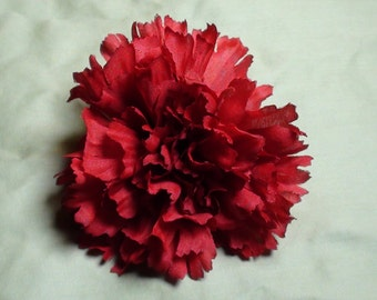 Carnation FLOWER HAIR CLIP Red hair clips brooch fashion flower hair accessories women girls teens toddlers cute hair style updo styles