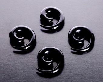 Black Spiral Stretcher from 2MM - 12G to 10MM - 00G