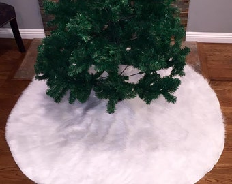 White tree skirt | Etsy