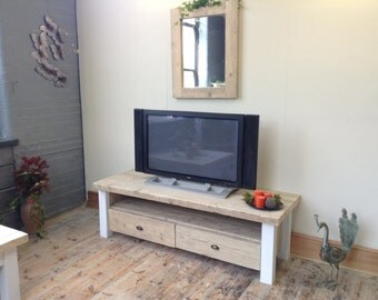 TV unit in Reclaimed and sustainable timber