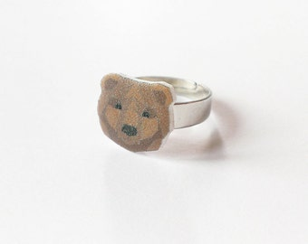 Origami bear ring