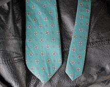 Floral Geometric Printed Tie