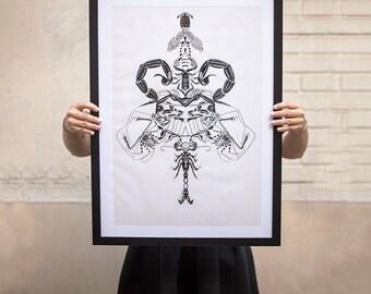 Scorpions - original illustration 50x70cm