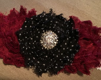 White Lacey Christmas headband