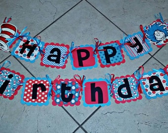 Dr Suess birthday banner
