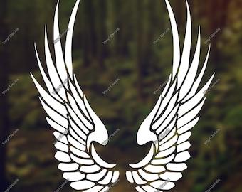 Wings Vinyl Decal - Wings Bike Decal - Wings Decal - Wings Sticker - Angel Decal - Feather Decal - Wings Car Decal - Wings Truck Decal