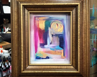 Cloonen- abstract acrylic painting, framed