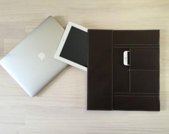 Brown Laptop Case, Macbook Pro Case, Macbook Air Case, Stylish Laptop Case, Sleeve, Case, Faux Leather, Laptop Sleeve, Handmade Laptop Case