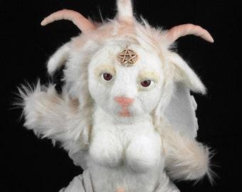 Albino or all black  Plush Baphomet