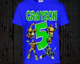 Ninja Turtles Birthday Shirt - TMNT Birthday Shirt - Other Colors Available
