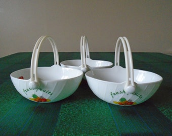 3 x fruit salad ceramic baskets