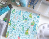 Lilly Pulitzer Inspired You Gotta Regatta Canvas Painting