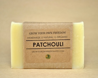 Handmade Organic Soap: Organic Patchouli Soap | Hippy Soap | Earthy Soap | Handmade Soap | All Natural Soap | Vegan Soap | Palm Free Soap