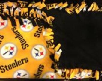 Fleece Pittsburgh Steelers Blanket - Steelers Fan - Football- Christmas Gift- Warm and Cozy