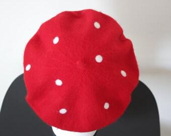 100% Wool Cute Polka Dot Beret