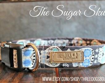 The Sugar Skull Dog Collar- Free shipping!