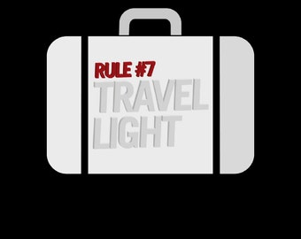 Rule #7 Travel Light T-shirt