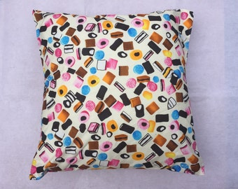 "Cushion Cover Sweet Design Handmade 40"" size, folded back detail"