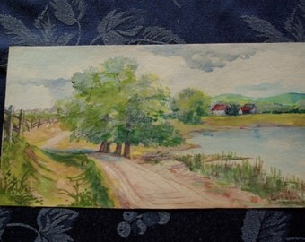 Original Water Colour by Canadian Artist Lily Osman Adams