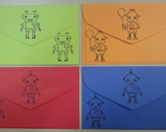 Robot Stationery, Set of 12