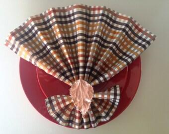 Autumn/Fall/Thanksgiving Cloth Napkins~Set of 10