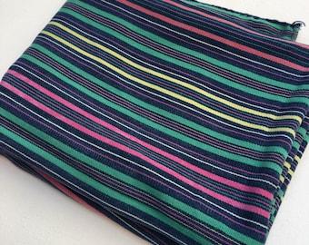Indigo Stripe Fabric Etsy
