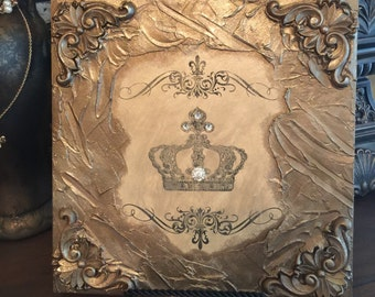 Wall Plaque / Crown Plaque / Embellished Plaques
