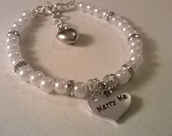Valentines Marry me bracelet
