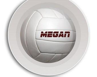 Volleyball BOWL, Kid Dish Set, Kid Dinnerware Set, Childrens Tableware Set, Sport Platter, Volleyball Plate, Volley Ball, Melamine Baby Bowl