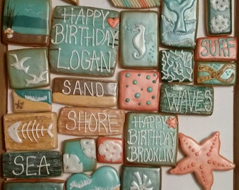 Beach - Spring Break cookies - One Dozen your choice mix and match