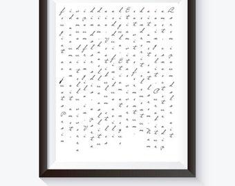 Lorem Ipsum Typography 8x10 inch Art Poster Print