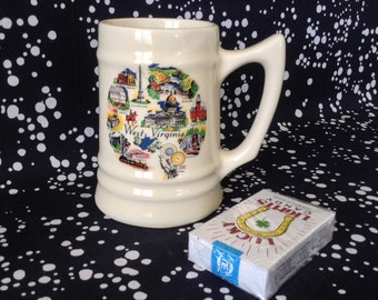 Goin' to West Virginia~State~Souvenir~Pint~Stein~Mug~USA~Ceramic
